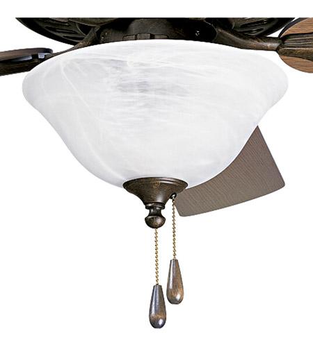 Progress Lighting Alabaster Glass 3 Light Fan Light Kit in Weathered Bronze P2612-46 photo