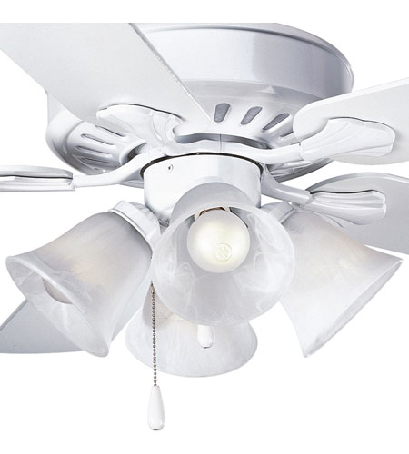 Progress P2616-30 Alabaster Glass 4 Light White Fan Light Kit photo