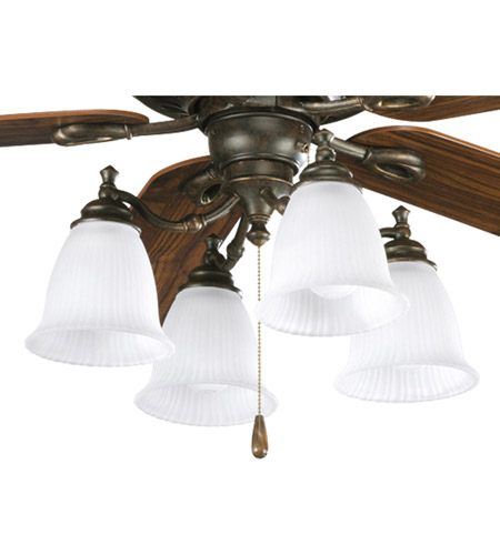 Progress P2625-77 Renovations 4 Light Forged Bronze Fan Light Kit photo