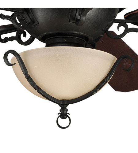Progress Lighting Thomasville Santiago 3 Light Fan Light Kit in Forged Black P2641-80 photo