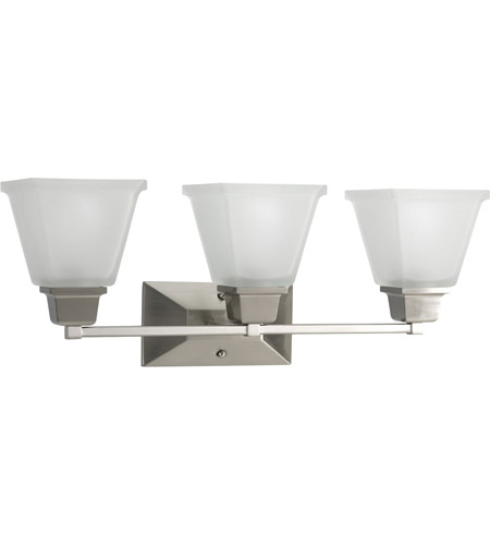 Progress Lighting North Park 3 Light Bath Vanity in Brushed Nickel P2743-09 photo