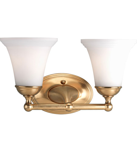 Progress P2780 109 Milia 2 Light 14 Inch Brushed Bronze Bath Vanity Wall Light