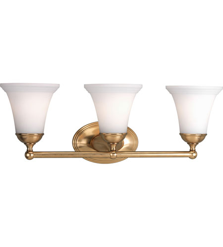 Progress p2781 109 milia 3 light 22 inch brushed bronze - Brushed bronze bathroom light fixtures ...