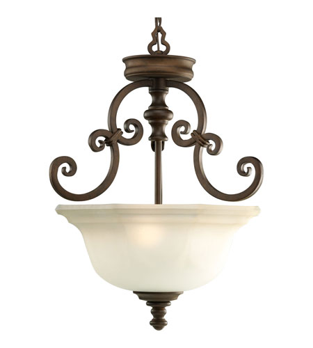 Progress P2835-102 Guildhall 3 Light 17 inch Roasted Java Semi-Flush Mount Ceiling Light photo