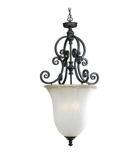 Progress P2836-80 Guildhall 3 Light 19 inch Forged Black Hall & Foyer Ceiling Light photo