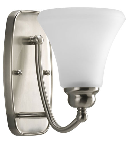 Progress Lighting Janos 1 Light Bath Vanity in Brushed Nickel P2908-09EBWB photo