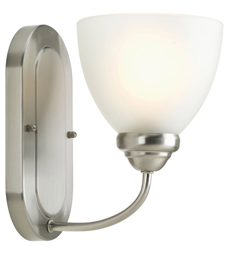 Progress P2913-09 Heart 1 Light 6 inch Brushed Nickel Bath Vanity Wall Light photo