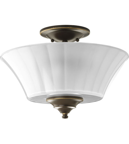 Progress Lighting Melody 2 Light Semi-Flush Mount in Oil Rubbed Bronze P2940-108 photo