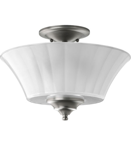 Progress Lighting Melody 2 Light Semi-Flush Mount in Antique Nickel P2940-81 photo