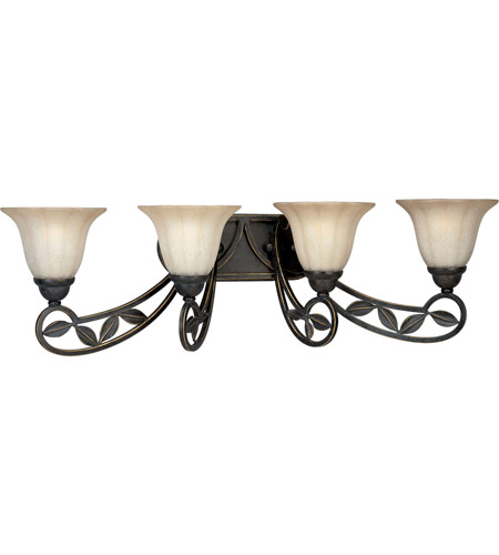 Progress P2969-84 Le Jardin 4 Light 34 inch Espresso Bath Vanity Wall Light photo