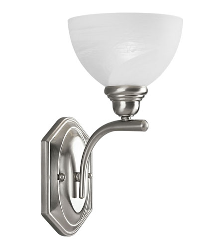 Progress Lighting Glendale 1 Light Wall Bracket in Brushed Nickel P2982-09 photo