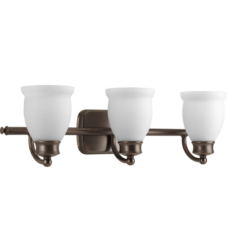 Delta Bathroom Vanity Lights : Progress Lighting Delta Leeland 3 Light Bath Vanity in Venetian Bronze P2995-74