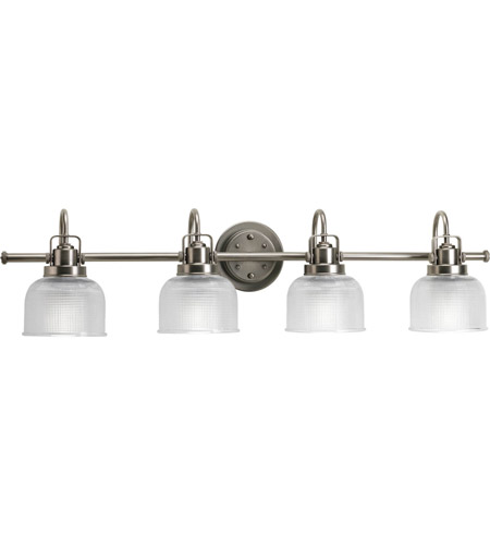 Progress Lighting Archie Collection 2 Light Antique Nickel: Progress P2997-81 Archie 4 Light 36 Inch Antique Nickel