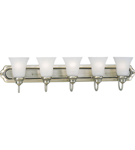 Progress P3010-43 Huntington 5 Light 37 inch Colonial Silver Bath Vanity Wall Light photo
