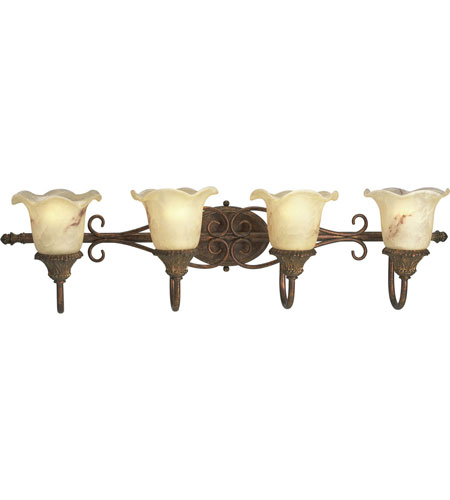Progress Lighting Thomasville Elysian 4 Light Bath Vanity in Golden Brandy P3020-02 photo