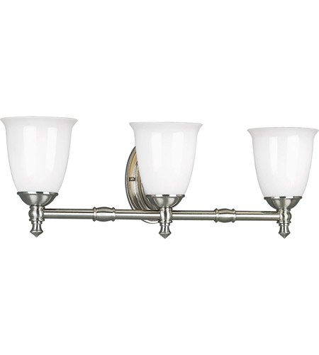victorian 3 light 25 inch brushed nickel bath vanity wall light photo