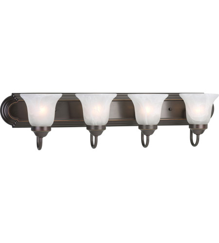 Progress Lighting Builder Bath 4 Light Bath Vanity in Antique Bronze P3054-20 photo