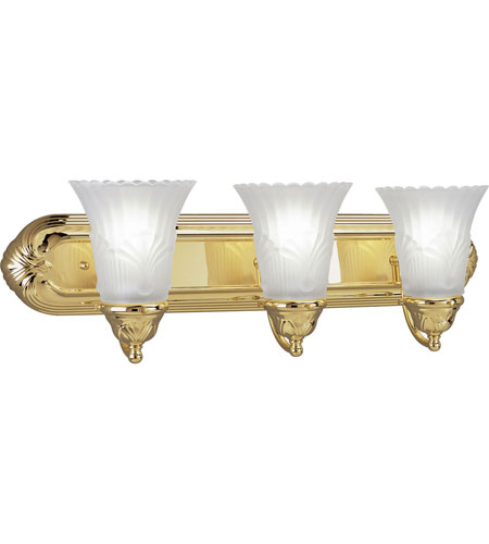 Progress P3073-10 Montgomery 3 Light 24 inch Polished Brass Bath Vanity Wall Light photo
