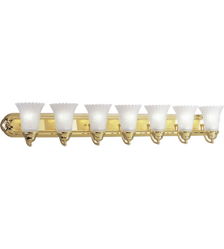 Progress Lighting Montgomery 7 Light Bath Vanity in Polished Brass P3075-10 photo