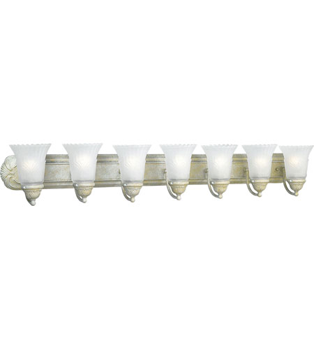 Progress P3075-18 Montgomery 7 Light 48 inch Venetian Gold Bath Vanity Wall Light photo