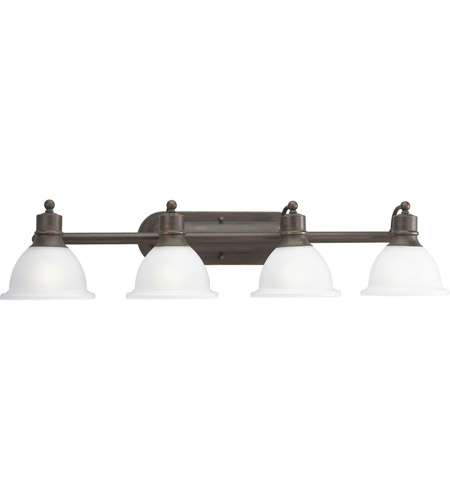 Progress P3164-20 Madison 4 Light 38 inch Antique Bronze Bath Vanity Wall Light photo