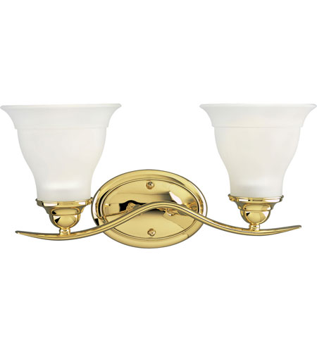 Progress Lighting Trinity 2 Light Bath Vanity in Polished Brass P3191-10 photo
