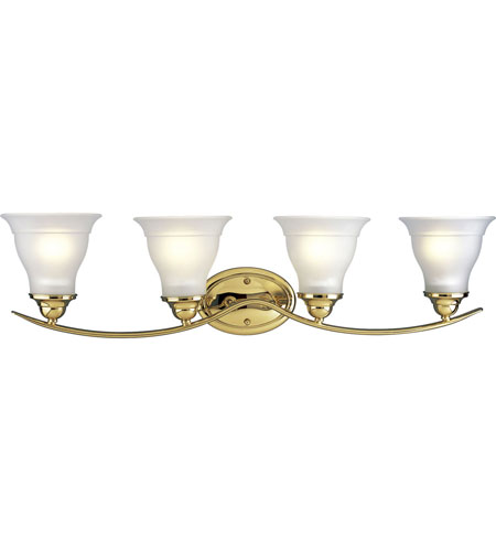 Progress Lighting Trinity 4 Light Bath Vanity in Polished Brass P3193-10 photo