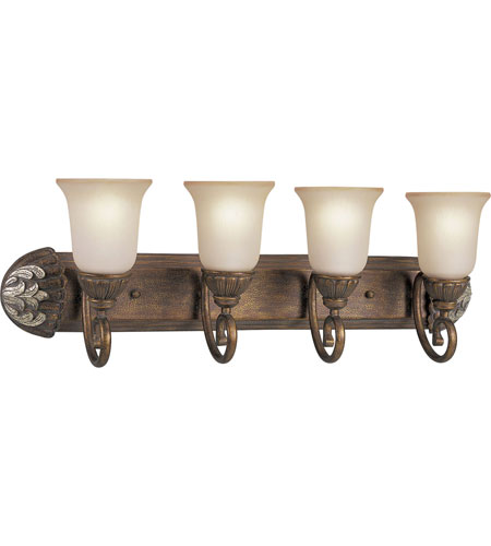 Progress P3199-55 Carmel 4 Light 31 inch Tuscany Crackle Bath Vanity Wall Light photo