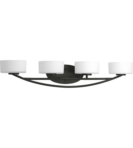 Progress P3236-80WB Calven 4 Light 34 inch Forged Black Bath Vanity Wall Light photo