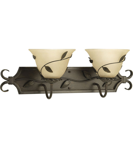 Progress Lighting Eden 2 Light Bath Vanity in Forged Bronze P3237-77 photo