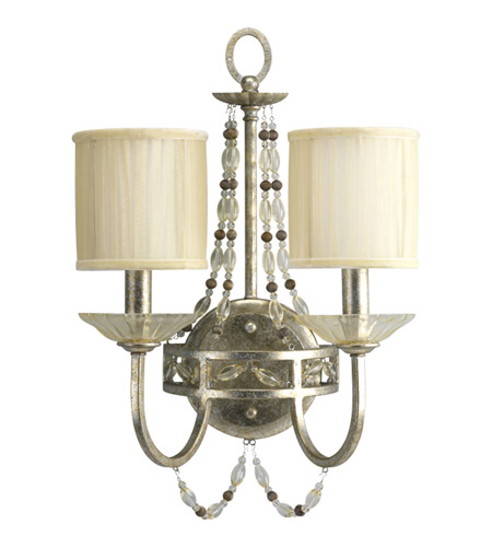 Progress Lighting Thomasville Chanelle 2 Light Wall Bracket in Antique Silver P3292-34 photo