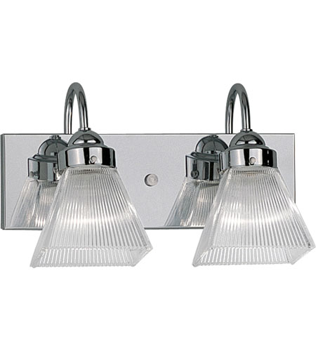 Progress Lighting Square Prismatic Glass 2 Light Bath Vanity in Polished Chrome P3321-15 photo