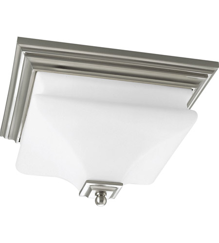 Progress P3364-09 Bratenahl 2 Light 13 inch Brushed Nickel Close-to-Ceiling Ceiling Light photo