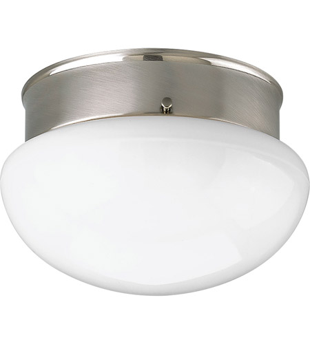 Progress p3408 09wb fitter 1 light 7 inch brushed nickel flush progress p3408 09wb fitter 1 light 7 inch brushed nickel flush mount ceiling light in bulbs included mozeypictures Images