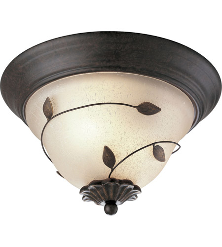 Eden 2 Light 13 Inch Forged Bronze Close To Ceiling