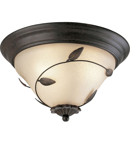 Eden 3 Light 16 Inch Forged Bronze Close To Ceiling