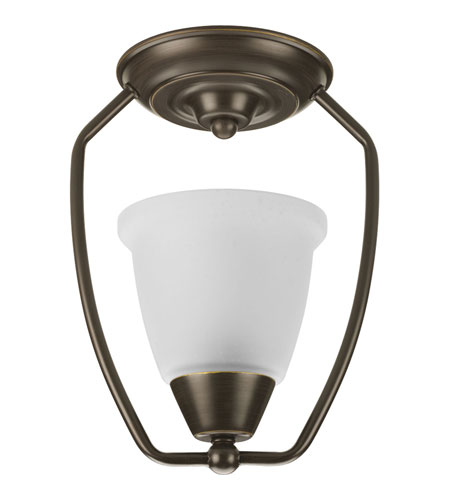 Progress Lighting New Bedford 1 Light Semi-Flush Mount in Antique Bronze P3462-20 photo