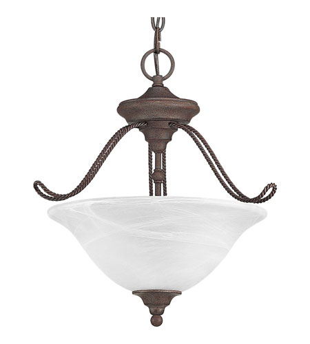 Progress Lighting Avalon 3 Light Semi-Flush Mount in Cobblestone P3467-33 photo