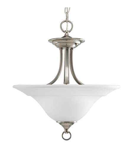 Progress P3473-09 Trinity 2 Light 16 inch Brushed Nickel Semi-Flush Mount Ceiling Light photo