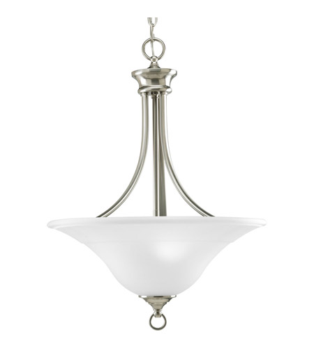 superior quality 8d83c add35 Trinity 3 Light 18 inch Brushed Nickel Hall & Foyer Ceiling Light in Bulbs  Not Included