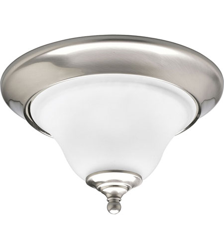 Progress P3475-09EBWB Trinity 1 Light 13 inch Brushed Nickel Flush Mount Ceiling Light in Bulbs Included, Fluorescent photo