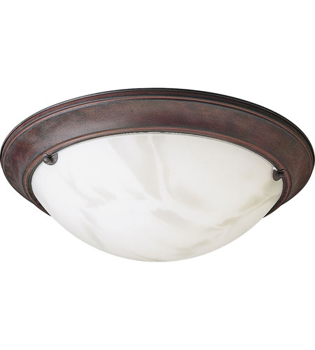 Progress Lighting Eclipse 3 Light Semi-Flush Mount in Cobblestone P3481-33 photo