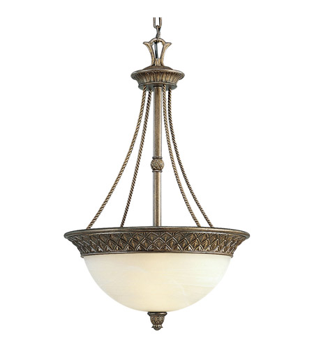 Progress P3542-86 Savannah 3 Light 17 inch Burnished Chestnut Hall & Foyer Ceiling Light photo