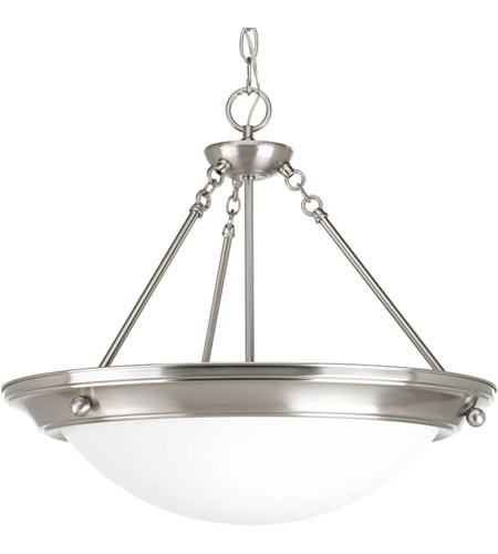 Progress P3573-09 Eclipse 3 Light 19 inch Brushed Nickel Foyer Pendant Ceiling Light photo