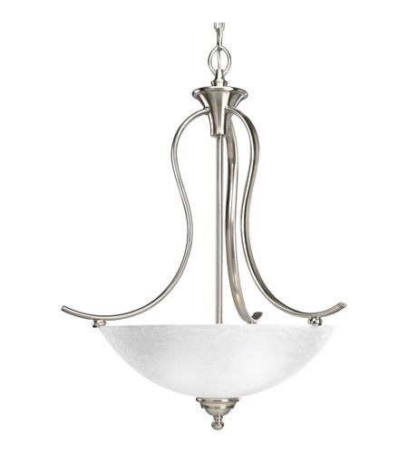 Progress P3581-09 Sentura 3 Light 21 inch Brushed Nickel Hall & Foyer Ceiling Light photo