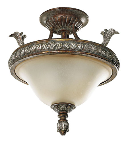 Progress P3592-55 Carmel 3 Light 16 inch Tuscany Crackle Semi-Flush Mount Ceiling Light photo