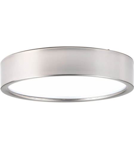 huge selection of 6473a 7fedb Portal LED 13 inch Brushed Nickel Flush Mount Ceiling Light, Etched White  Acrylic