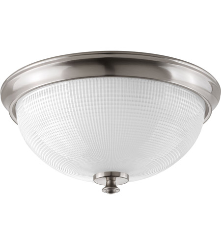 Progress P3667-09 Lucky 3 Light 15 inch Brushed Nickel Flush Mount ...
