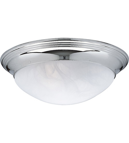 Progress P3689-15 Alabaster Glass 2 Light 14 inch Chrome Close-to-Ceiling Ceiling Light in Etched Alabaster photo