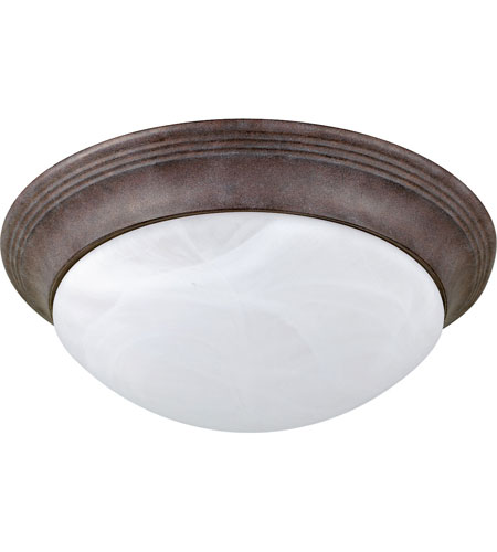 Progress P3689-33 Alabaster Glass 2 Light 14 inch Cobblestone Close-to-Ceiling Ceiling Light in Etched Alabaster photo